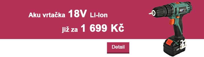 Aku vrtačka 18V Li-Ion