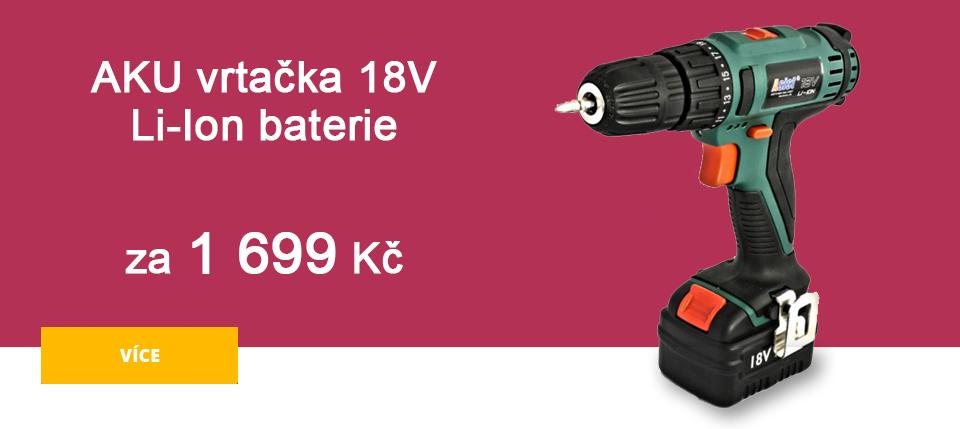 Úvodní strana - AKU vrtačka 18V - Li-Ion
