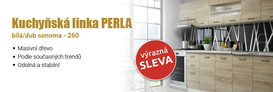 Kuchyňská linka Perla bílá/dub sonoma