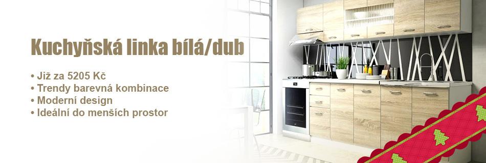 Kuchyňská linka Perla bílá/dub sonoma - 260